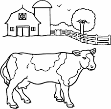 Small Picture Cow Coloring Page Great Printable Pages For Kids With Cartoon