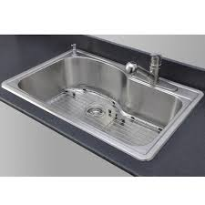 single basin kitchen sink throughout small island with faucet