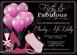 Adult Birthday Invitations Templates Baloon Women 50th Invitation