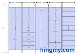 standard closet dimensions. Dimensions Standard Closet D