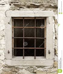 Altes Fenster Mit Stäben Stockbild Bild Von Eisen Netz 13325939