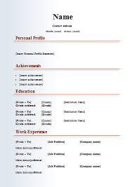 Cv Template Job 1 Cv Template Resume Format Resume Job Resume