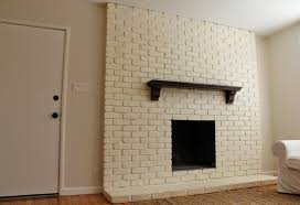 painted white brick fireplaceWhite Painted Brick Fireplace Makeover Telstraus Painted White