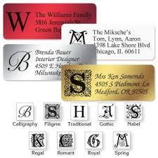 Monogram Return Address Labels Monogram Address Labels Monogram Return Address Labels Colorful