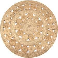 vidaXL <b>Area Rug Braided Design</b> Jute 150 cm Round– House of ...
