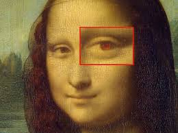 one theory holds that leonardo da vinci secretly embedded his initials in the eyes of his