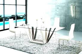 modern glass dining table round