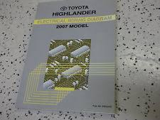 toyota highlander repair manual 2007 toyota highlander electrical wiring diagram service shop repair manual ewd