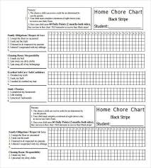 Weekly Monthly Home Chore Chart Able How To Make Good