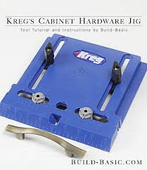 Kitchen Cabinet Hardware Jig How To Use A Kreg Cabinet Hardware Jig Build Basic
