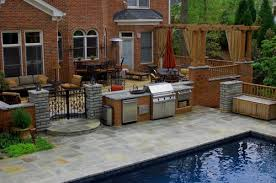 patio with pool and grill. Perfect Pool For Patio With Pool And Grill Houzz