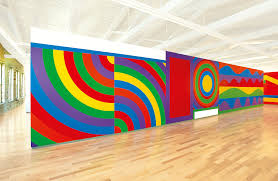 Large Scale Art Contemporary Artist Sol Lewitt Large Scale Paintings Assembled At