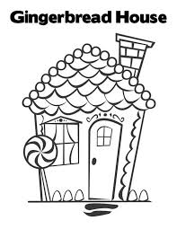 Beautiful Christmas Gingerbread House Coloring Page Download