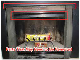 how to remove fireplace doors and frame