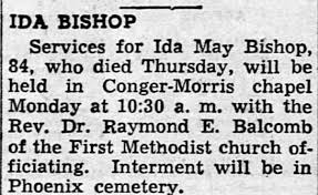 Obituary for Ida May BISHOP (Aged 84) - Newspapers.com