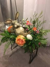 Easter Floral Design Ideas Easter Bunny Floral Arrangement Easter Decor Easter Table