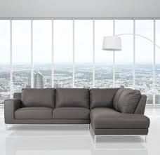 Wade Logan Alsatia Casa Primrose Modern Eco Leather Sectional Sofa