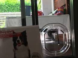 medium dog door for glass single double glazing