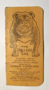 VINTAGE AVERY BULL DOG LINE NOTEBOOK - TRACTORS, STEAM ENGINES, PLOWS    #1721757025