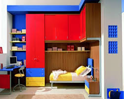 red blue bedroom