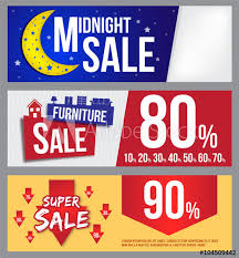 furniture sale banner. Midnight Sale, Furniture Sale And Super Banner For Commercial