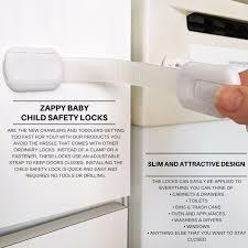 Child Safety For Cabinets Amazoncom Zappy Baby Adjustable Child Safety Locks Latches