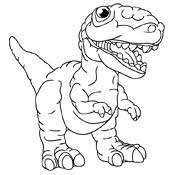 Kleurplaten Dinosaurus