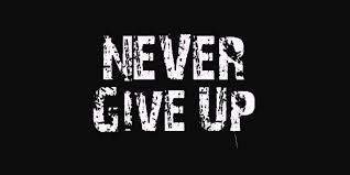 Image result for never give up