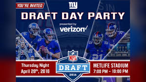 new york giants 2016 draft day party
