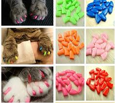 2019 Colorful Cats Dogs Kitten Paws Grooming Nail Claw Cap Adhesive Glue Soft Rubber Pet Nail Cover Paws Caps Pet Supplies From Qwonly_shop 0 87
