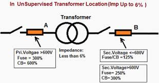 overcurrent protection of transformer nec 450 3 eep unsupervised location of transformer impedance