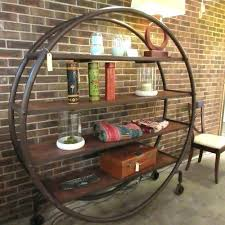 round metal shelf wall
