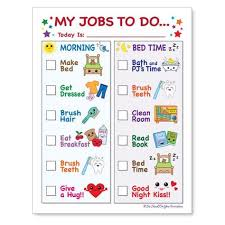 Routine Chore Chart For Morning And Bedtime Instant