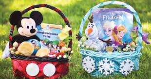disney diy make your own adorable mickey mouse and frozen easter baskets