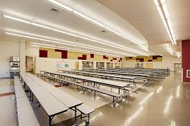 high school cafeteria. Cafeteria At High School Stock Photo