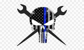 blue line punisher skull free