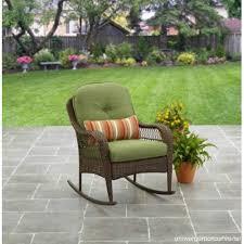 patio furniture rocking chair brown