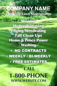 Free Lawn Mowing Flyer Template Lawn Care Flyers Templates Lawn Care Free Flyer Psd Template