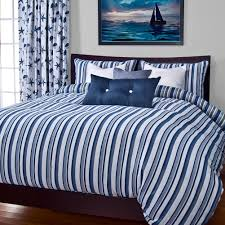 nautical blue stripe bedding set