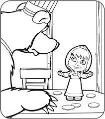 Masha And The Bear Coloring Pages - GetColoringPages.com