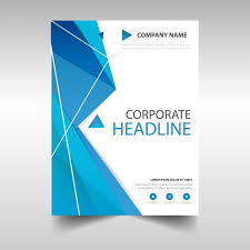 polygonal annual report book cover template free vector