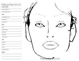 Blank Mac Face Charts Makeup Anarchist Makeup Estetica