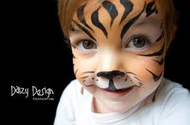 cute little tiger face paint zoo party tiger face paints face paintings tiger face