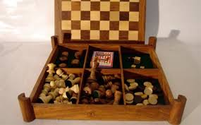 Wooden Board Game Sets Chess Board With CheckersChess Board With DiceChess Board With 94