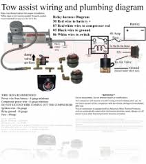 how to wire and plumb the air suspension compressor on the tow air suspensions instruction manuals tow assist wiring and plumbing diagram