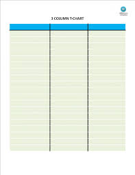 Color Pages Three Column Chart Magdalene Project Org Free