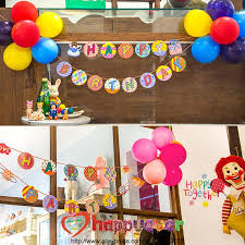 2019 whole one set letter garland with balloon flower set happy birthday party decoration birthday party welcome wall decor from hobarte