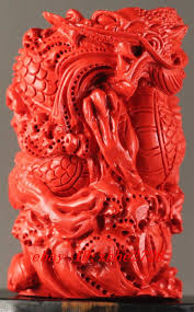 details about chinese natural cinnabar red jade hand carved dragon statue 2 8inch