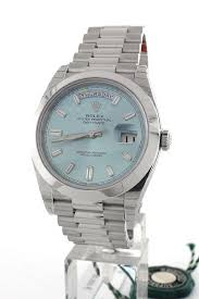 rolex 228206 day date 40 platinum ice blue dial men s watch rolex 228206 day date 40 platinum ice blue dial men s watch watchguynyc