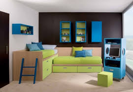 boys football bedroom ideas. Bedroom. Green Wooden Bed With Blue Ladder And Sheet Connected By Boys Football Bedroom Ideas L